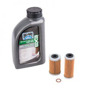 Tusk Oil Change Kit With Bel-Ray EXS Full Synthetic Ester 10W-50 for Husqvarna 701 ENDURO 2016-2018