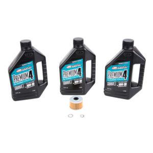 Tusk Oil Change Kit With Maxima Premium 10W-30 for Honda XR650L 1993-2009