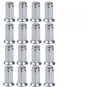 Tusk Flat Base Lug Nut 10mm x 1.25mm Thread Pitch w/14mm Head Chrome(16 Pack) for Arctic Cat – Textron 1000 LTD 2012