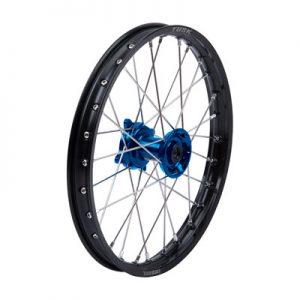 Tusk Impact Complete Wheel – Front 17 x 1.40 Black Rim/Silver Spoke/Blue Hub for Husqvarna TC 85 2014-2018