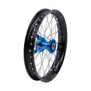 Tusk Impact Complete Wheel – Front 14 x 1.60 Black Rim/Silver Spoke/Blue Hub for Husqvarna TC 65 2017