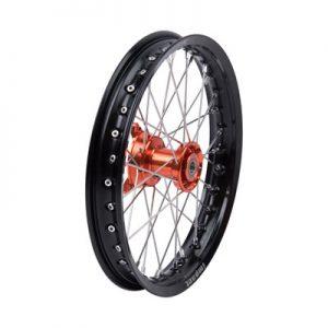 Tusk Impact Complete Wheel – Front 14 x 1.60 Black Rim/Silver Spoke/Orange Hub for Husqvarna TC 65 2017