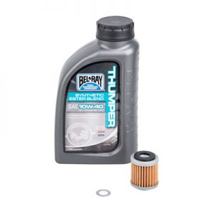 Tusk Oil Change Kit With Bel-Ray Thumper Full Synthetic 10W-40 for Kawasaki KX450F 2019