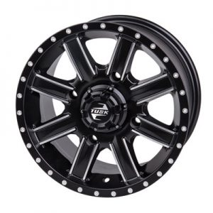 Tusk 4/137 Tusk Cascade Wheel 12×7 5.0 + 2.0 Machined/Black for Bombardier Outlander 330 2×4 H.O. 2003-2005