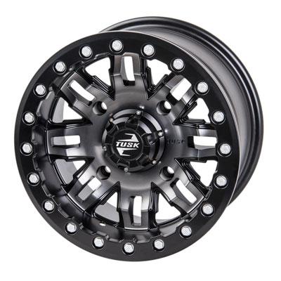 Tusk 4/156 Tusk Teton Beadlock Wheel 14×7 4.0 + 3.0 Gun Metal/Black for Kawasaki MULE Pro-DX 2016-2017