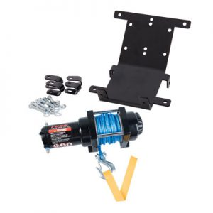 Tusk Winch with Synthetic Rope and Mount Plate 3500 lb. for Yamaha RHINO 450 4X4 2006-2009