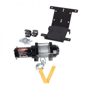 Tusk Winch with Wire Rope and Mount Plate 2500 lb. for Yamaha RHINO 450 4X4 2006-2009