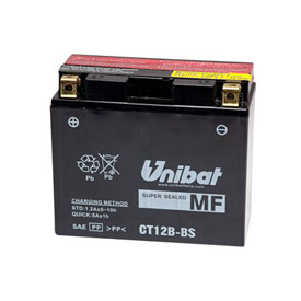 Unibat Maintenance-Free Battery with Acid CT12B-BS for Ducati 1000 Monster (1000/IE/S) 2003-2005