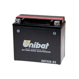 Unibat Maintenance-Free Battery with Acid CBTX20-BS for Buell S2 Thunderbolt 1995-1996