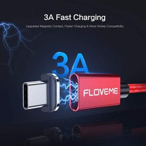 iPhone Lightning Charger, FLOVEME Magnetic iOS Fast Charger 3A Magnet Braid Cord (3.3FT)