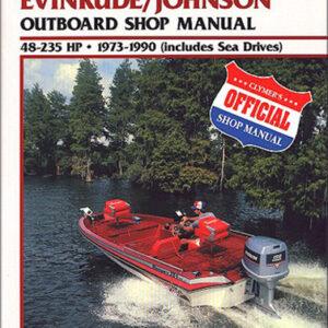 Clymer Repair Manual for Evin/Jhsn 48-235 HP OB 1973-1990