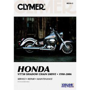Clymer Repair Manuals for Honda Shadow 750 ACE VT750C 1998-2003