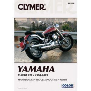 Clymer Repair Manuals for Yamaha V-Star 650 Classic 1998-2010