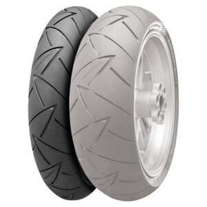 110/80R-19 (59V) Continental ContiRoad Attack 2 Hypersport Touring Radial Front Motorcycle Tire for Aprilia ETV 1000 Caponord 2002-2007