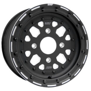 4/110 Douglas Sector Zero Beadlock Wheel 14×6 5.0 + 1.0 Black for Kymco Maxxer 375 2010-2012