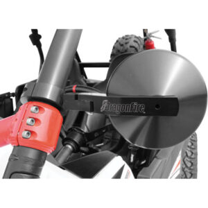 Dragonfire Racing Defender SS Mirrors Black Anodized for Can-Am Commander 1000 2011-2014