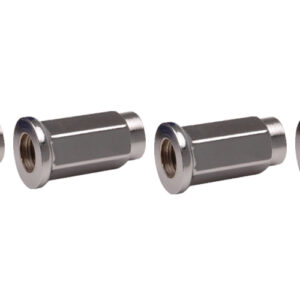 ITP (4pk) Flat Base Chrome Lug Nut 10mm x 1.25mm Thread Pitch w/14mm Head for Arctic Cat 1000 LTD 2012