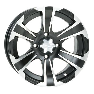 4/110 ITP SS312 Alloy Series Wheel 14×8 5.0 + 3.0 Matte Black for Honda Big Red MUV700 2009-2012
