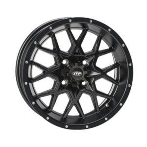 4/110 ITP Hurricane Wheel 12×7 2.0 + 5.0 Matte Black for Arctic Cat DVX 400 2004-2008