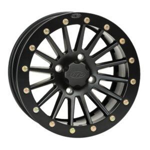 4/110 ITP SD Series Dual Beadlock Wheel 14×7 5.0 + 2.0 Black Beadring for Bombardier Traxter 500 4×4 1999-2005