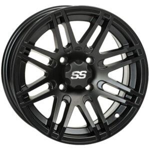 4/110 ITP SS316 Alloy Series Wheel 12×7 2.0 + 5.0 Matte Black for Arctic Cat DVX 400 2004-2008