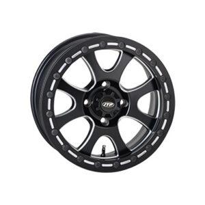 4/115 ITP Tsunami Beadlock Wheel 14×7 5.0 + 2.0 Matte Black for Arctic Cat 1000 LTD 2012