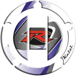 """Keiti Gas Cap Protector """"R"""" White for Suzuki GSXR1000 2003-2009"""
