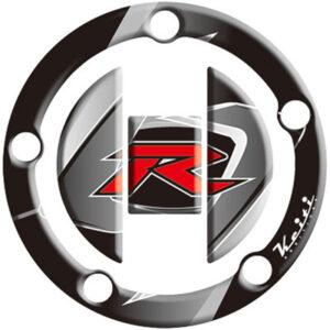 "Keiti Gas Cap Protector ""R"" Black for Suzuki GSXR1000 2003-2009"