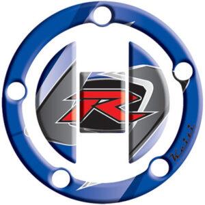 "Keiti Gas Cap Protector ""R"" Blue for Suzuki GSXR1000 2003-2009"