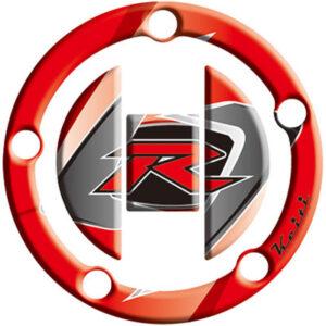 """Keiti Gas Cap Protector """"R"""" Red for Suzuki GSXR1000 2003-2009"""
