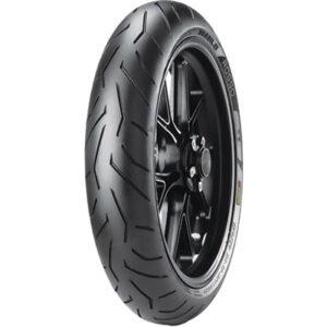 120/70ZR-17 (58W) Pirelli Diablo Rosso 2 Front Motorcycle Tire for Aprilia Caponord 1200 ABS 2014-2016