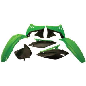 Polisport Complete Replica Plastic Kit 2005 Green for Kawasaki KX250F 2009-2012