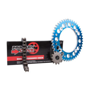 Primary Drive Alloy Kit & 428 C Chain Blue Rear Sprocket for KTM 85 SX 2018