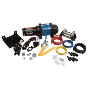Tusk Winch with Synthetic Rope and Mount Plate 3500 lb. for Yamaha GRIZZLY 450 4×4 2009-2014