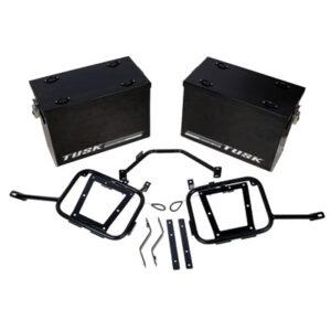 Aluminum Panniers with Pannier Racks Large Black for BMW R1200GS 2013