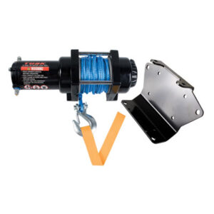 Tusk Winch with Synthetic Rope and Mount Plate 3500 lb. for Honda RUBICON 500 4X4 2005-2006