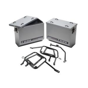 Aluminum Panniers with Pannier Racks Large Silver for BMW R1200GS 2013