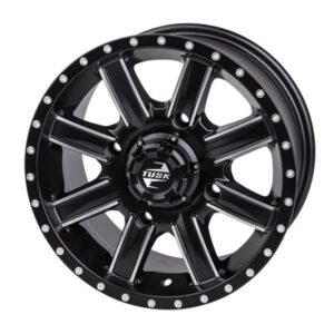 Tusk 4/137 Tusk Cascade Wheel 14×7 4.0 + 3.0 Machined/Black for Bombardier Outlander 330 2×4 H.O. 2003-2005